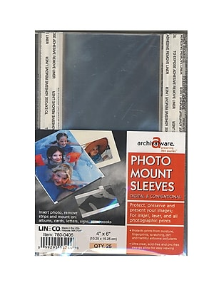 Lineco Photo Mounting Sleeves, 4
