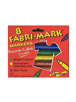 DriMark Fabri-Mark Markers primary colors [Pack of 3]