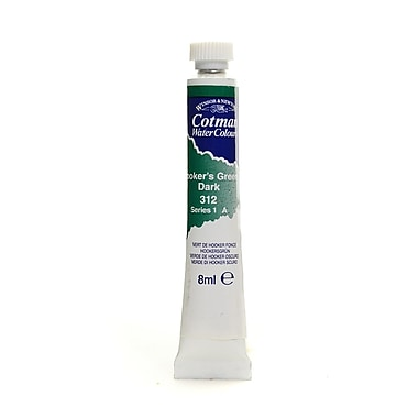 Winsor and Newton Cotman Water Colours, Hookers Green Dark no 312, 8ml, 4/Pack (27328-PK4)
