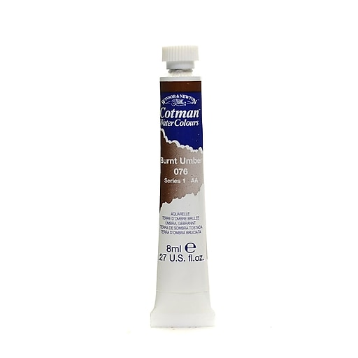 Winsor  and  Newton Cotman Water Colours burnt umber 76 8 ml [Pack of 4]