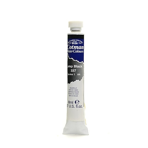 Winsor and Newton Cotman Water Colours, Lamp Black 337, 8ml, 4/Pack (57732-PK4)