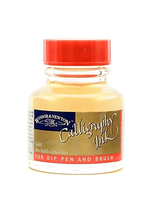 Winsor and Newton Calligraphy Ink gold 1 oz. [Pack of 2]