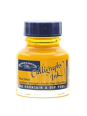 Winsor and Newton Calligraphy Ink Winsor yellow 1 oz. [Pack of 3]