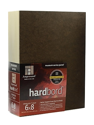 Ampersand Cradled Hardboard 6 in. x 8 in. 2 in. [Pack of 2]