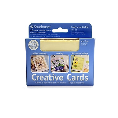 Strathmore Creative Cards announcement size [Pack of 3]