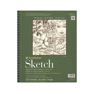 Strathmore Series 400 Premium Recycled Sketch Pads 11 in. x 14 in. 100 sheets [Pack of 2]