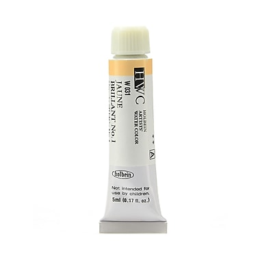 Holbein Artist Watercolor Jaune Brilliant #1 5 ml Pack of 2 (97095-PK2)