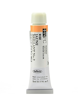 Holbein Artist Watercolor Jaune Brilliant #2 5 ml Pack of 2 (97096-PK2)