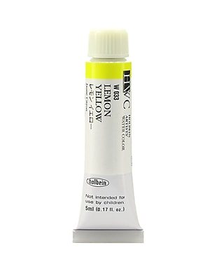 Holbein Artist Watercolor, Lemon Yellow, 5ml, 2/Pack (97100-PK2)