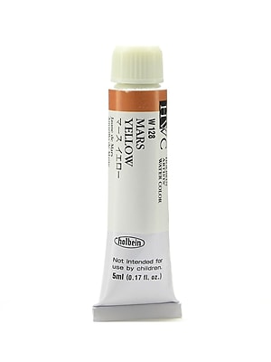 Holbein Artist Watercolor, Mars Yellow, 5ml, 2/Pack (97106-PK2)