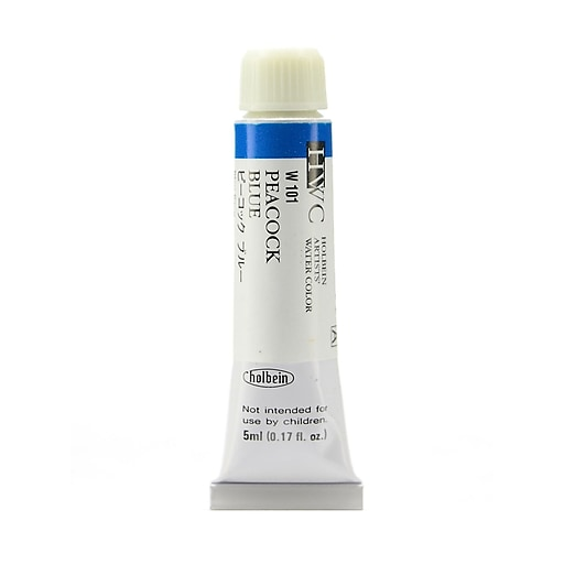 Holbein Artist Watercolor, Peacock Blue, 5ml, 2/Pack (97114-PK2)