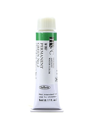 Holbein Artist Watercolor, Permanent Green 02, 5ml, 2/Pack (97117-PK2)