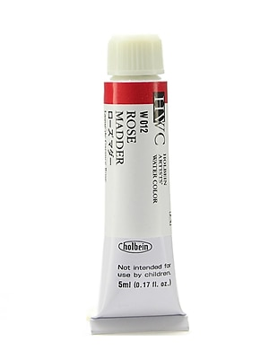 Holbein Artist Watercolor, Rose Madder, 5ml, 2/Pack (97130-PK2)