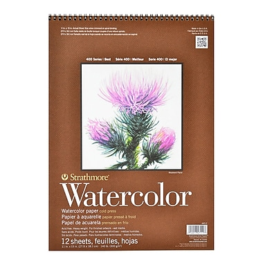 Strathmore 400 Series Watercolor Pad 11 in. x 15 in. spiral pad of 12 [Pack of 2]