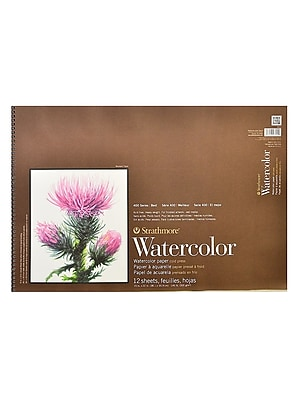 Strathmore 400 Series Watercolor Pad 15 in. x 22 in. spiral pad of 12