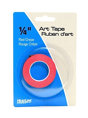HeadLine Graphic Art Tape red 1/4 in. [Pack of 6]