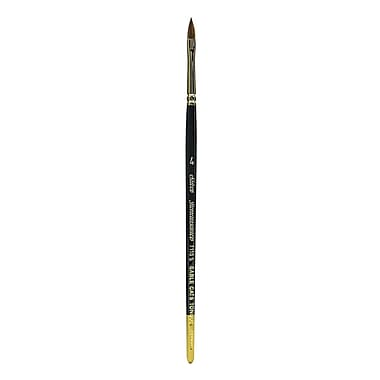Silver Brush Renaissance Series Brushes Short Handle, 4 Cat's Tongue (52840)