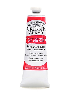 Winsor and Newton Griffin Alkyd Oil Colours permanent rose 37 ml 501 [Pack of 3]