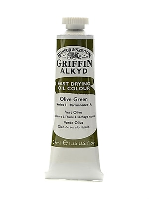 Winsor and Newton Griffin Alkyd Oil Colours olive green 37 ml 447 [Pack of 3]