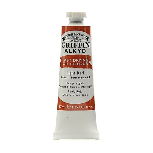 Winsor  and  Newton Griffin Alkyd Oil Colours light red 37 ml 362 [Pack of 3]