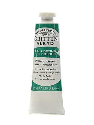 Winsor and Newton Griffin Alkyd Oil Colours phthalo green 37 ml 522 [Pack of 3]