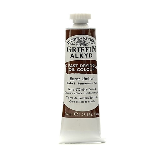 Winsor  and  Newton Griffin Alkyd Oil Colours burnt umber 37 ml 76 [Pack of 3]