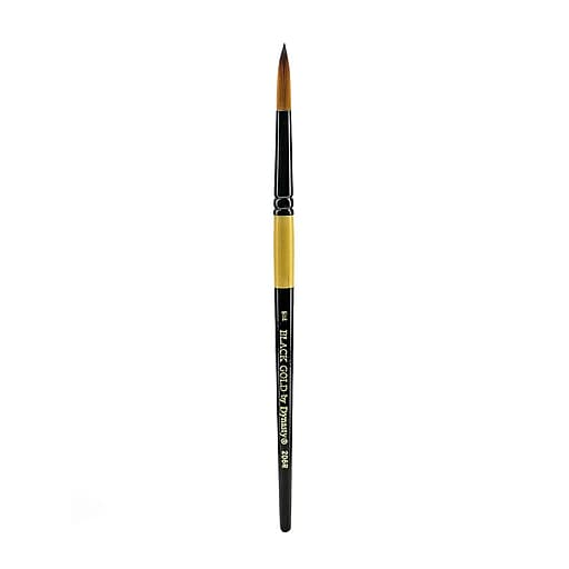 Dynasty Black Gold Series Synthetic Brushes Short Handle 10 Round (38759)