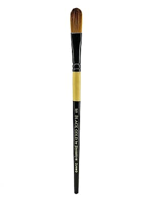 Dynasty Black Gold Series Synthetic Brushes, Short Handle 1/2