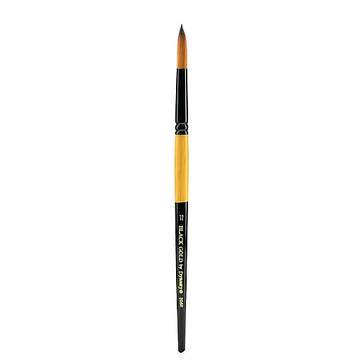 Dynasty Black Gold Series Synthetic Brushes Short Handle 12 Round (44794)