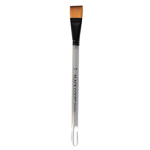 Dynasty Black Gold Series Synthetic Brushes Flat Wash Clear Acrylic Handle 3/4 In.