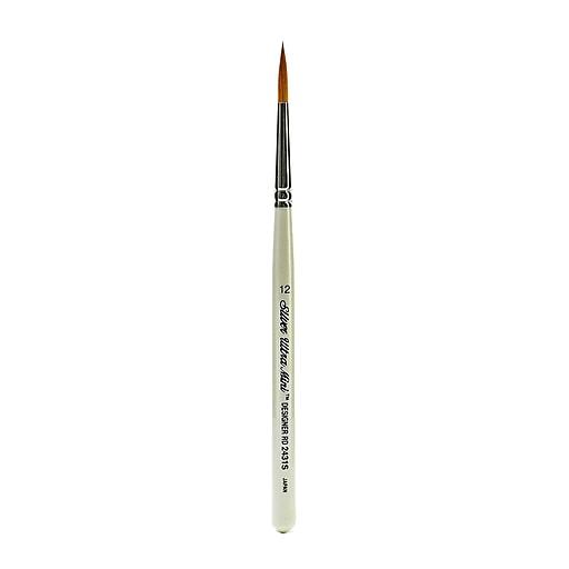 Silver Brush Ultra Mini Series Golden Taklon Brushes, 12 Designer Round (50727)