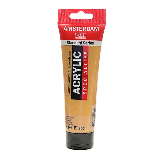 Amsterdam Standard Series Acrylic Paint, Deep Gold, 120ml, 3/Pack (57538-PK3)