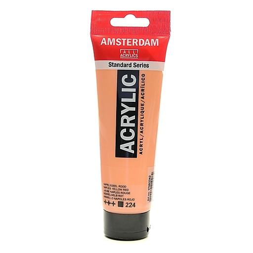 Amsterdam Standard Series Acrylic Paint Naples, Yellow Red, 120ml, 3/Pack (85436-PK3)