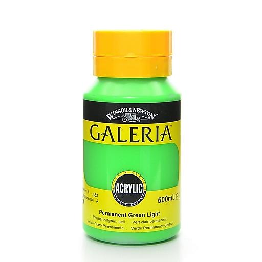 Winsor and Newton Galeria Flow Formula Acrylic Colors Permanent Green Light 500 ml 483 (55061)