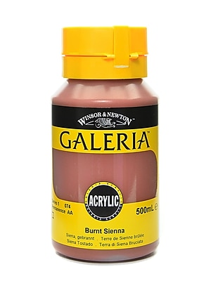 Winsor and Newton Galeria Flow Formula Acrylic Colors Burnt Sienna 500 ml 74 (73062)