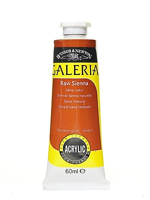 Winsor and Newton Galeria Flow Formula Acrylic Colours, Raw Sienna, 60ml, no 552, 4/Pack (81501-PK4)