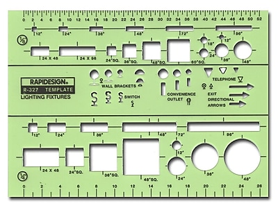 Rapidesign Electrical Drafting and Design Templates basic lighting fixture symbols each