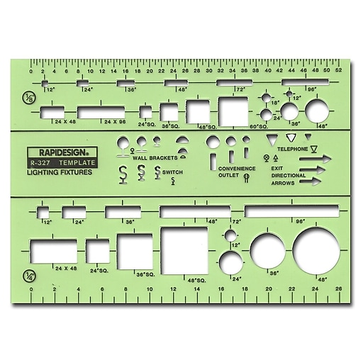 Rapidesign Electrical Drafting And Design Templates Basic Lighting