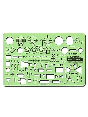 Rapidesign Electrical Drafting and Design Templates electrical/electronic standard symbols each