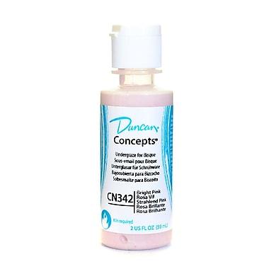 Duncan Concepts Underglaze, Bright Pink CN342, 2oz, 4/Pack (30098-PK4)