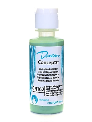 Duncan Concepts Underglaze, Bright Wintergreen CN162, 2oz, 4/Pack (32329-PK4)