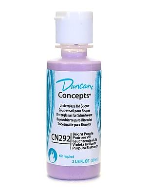 Duncan Concepts Underglaze, Bright Purple CN292, 2oz, 4/Pack (33851-PK4)