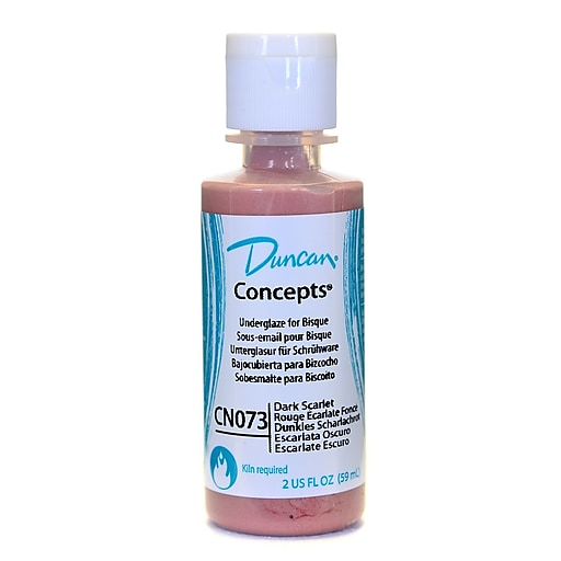 Duncan Concepts Underglaze, Dark Scarlet CN073, 2oz, 4/Pack (76490-PK4)