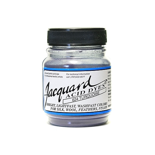 Jacquard Acid Dyes, Turquoise, 4/Pack (61128-PK4)