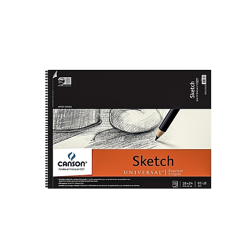 Canson Universal Heavyweight Sketch Pads 18 in. x 24 in. 30 sheets [Pack of 2]