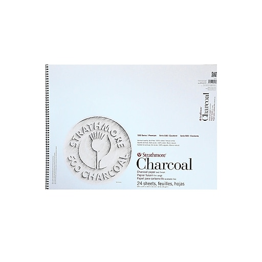Strathmore 500 Series Charcoal Paper Pads white 18 in. x 24 in.