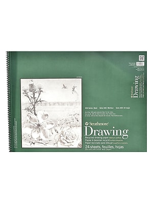 Strathmore Series 400 Premium Recycled Drawing Pads 18 in. x 24 in. [Pack of 2]