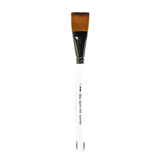 """Silver Brush Crystal Series Brushes 1"""" Square Wash 6808S (12248)"""