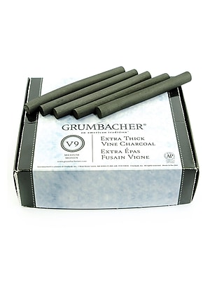 Grumbacher Artists' Charcoal Sticks, Jumbo Vine, Medium, 25/Box