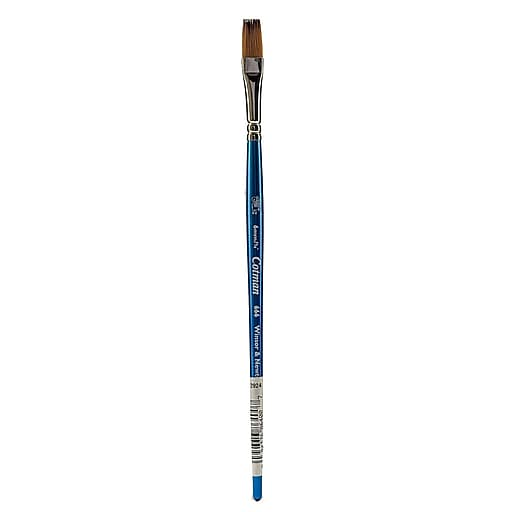 """Winsor and Newton Cotman Watercolor Brushes 1/4"""" One Stroke Flat 666 (52884)"""